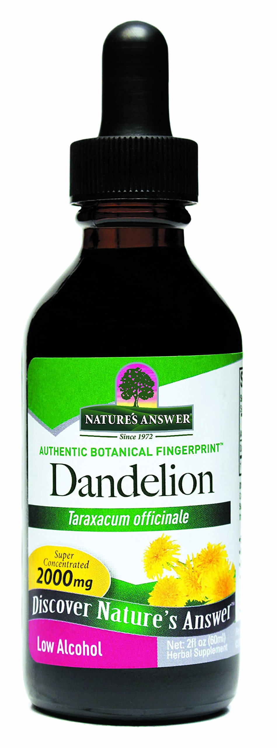 Nature's Answer Dandelion Root with Organic Alcohol, 2-Fluid Ounces
