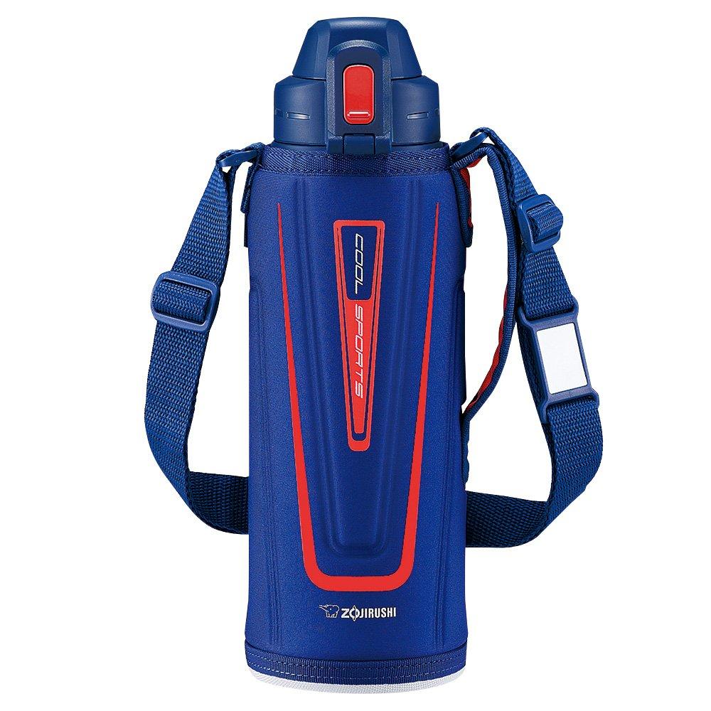 Zojirushi Stainless Steel Cool Flask - Sports Type (1.03L Capacity) Orange Navy SD-EC10-AD