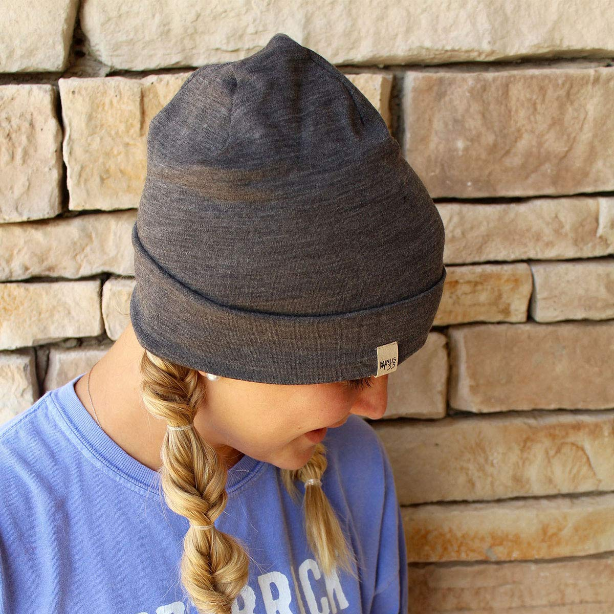 bb4ff4f5f7b Minus33 Merino Wool Ridge Cuff Beanie Charcoal One Size  Amazon.in  Clothing    Accessories