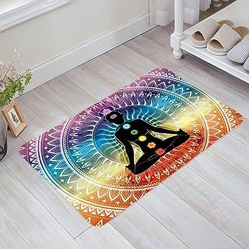 Amazon.com: Yoga felpudos asiática decoración alfombra mat ...