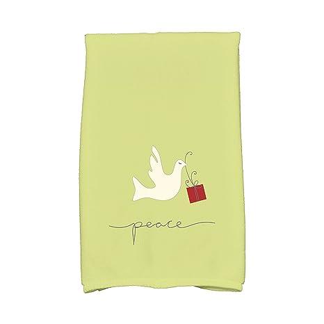 E por diseño Coastal Navidad paloma de la Paz Animal Print toalla de mano