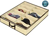 Ziz Home Under Bed Shoe Organizer for Kids and