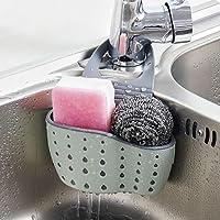 Hunpta Support de rangement à ventouse pour évier, idéal pour contenir savon, éponge, etc. pour salle de bains, cuisine, permet l'écoulement de l'eau