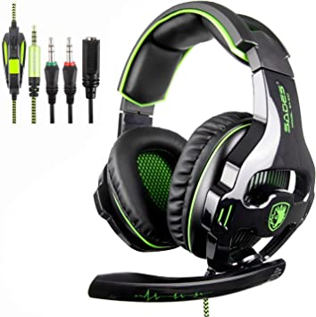 SADES SA810 Xbox One Mic PS4 Gaming Headset] 3.5 mm con Cable Over ...