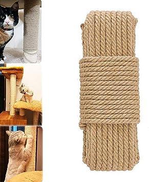 Amazon.com: Cuerda de sisal natural para rascar postes de ...