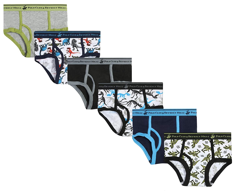 Pack of 6 Beverly Hills Polo Club Boys Underwear Briefs