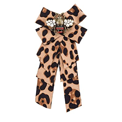 a61aa56a00 Amazon.com: DDLKK Fashion Flannel Bow Leopard Print Pre-with Ribbon ...