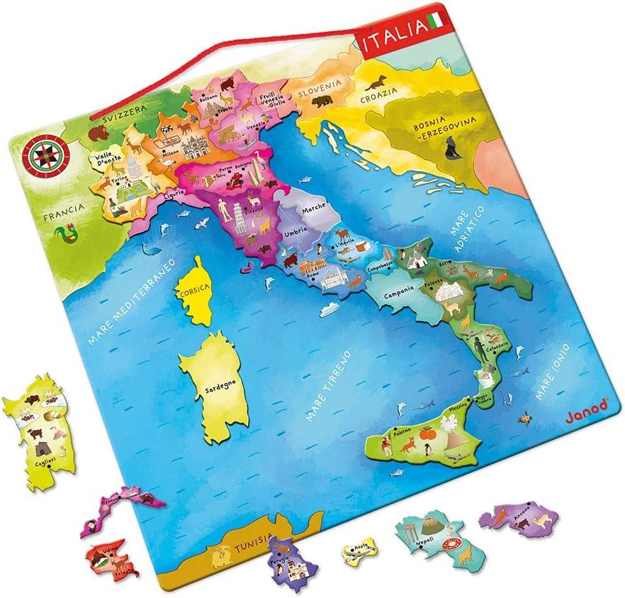 Cartina Italia Amazon.Janod Mappa D Italia Magnetica 20 Pezzi Legno 36 X 36 Cm Gioco Educativo Per Bambini Dai 7 Anni In Su J05488 Amazon It Giochi E Giocattoli