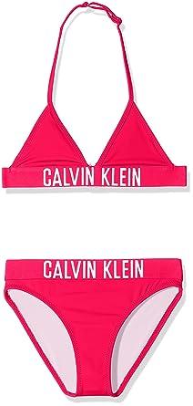 54584d0c1 Calvin Klein Intense Power Triangle Bikini Set Haut de Maillot de Bain Fille