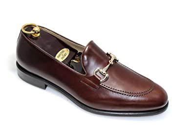 a18e5a9955fa SMYTHE   DIGBY Handmade Men s Brown Leather Horse-bit Loafers ...