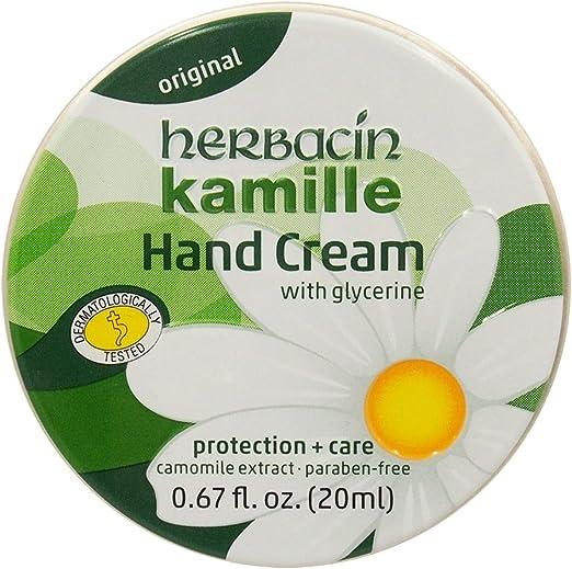 Herbacin Kamille Glycerine Hand Cream 2.5 Oz 75 Ml Tin for