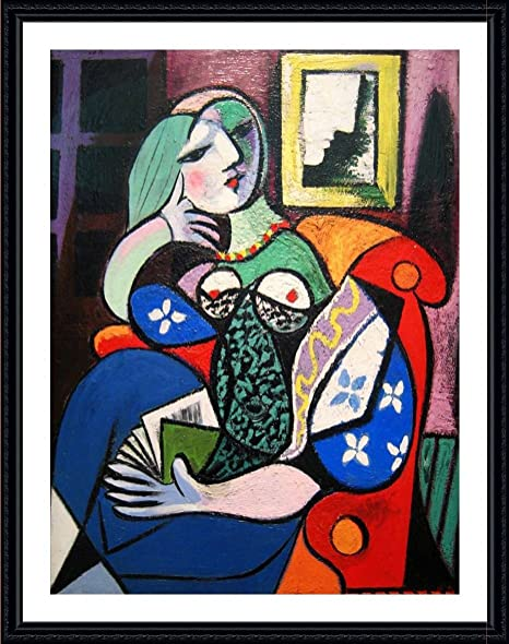 gallery wrapped Alonline Art The Dream by Pablo Picasso Wall art home decor for living room picture giclee 100/% cotton framed stretched canvas on a ready to hang frame 28x40-71x101cm