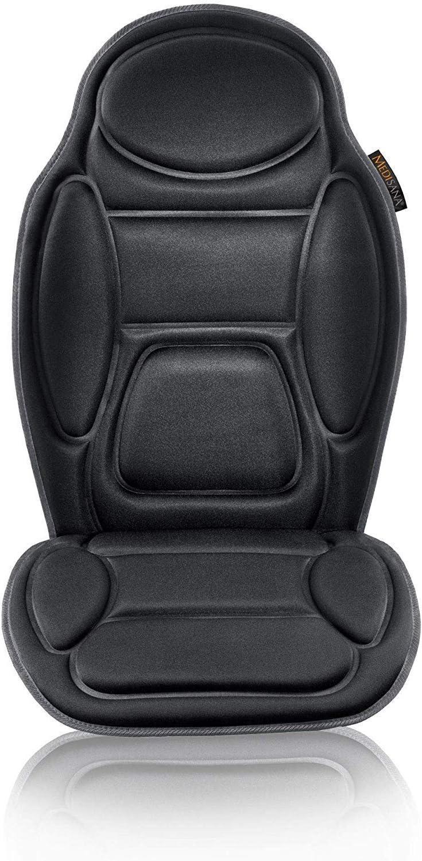 Medisana MCH Funda de asiento de masaje, funda de masaje con vibración, 5 programas, funda de asiento de coche para hombro, espalda, calefacción del asiento con función de calentamiento