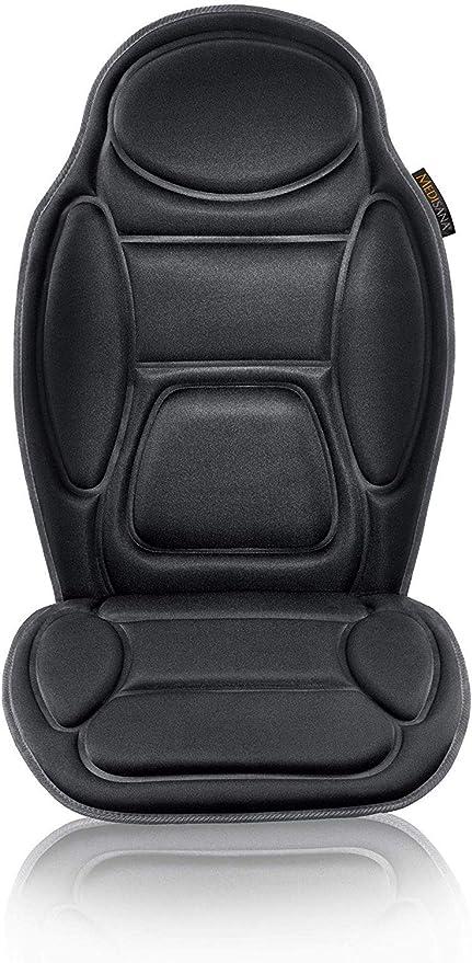 Medisana MCH housse de siège de massage pour la voiture, housse de massage avec vibration, 5 programmes, chauffage du siège avec fonction de