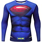 Men's Super-Hero Series Compression Sports Fitness Shirt Quick-Drying Running Tee