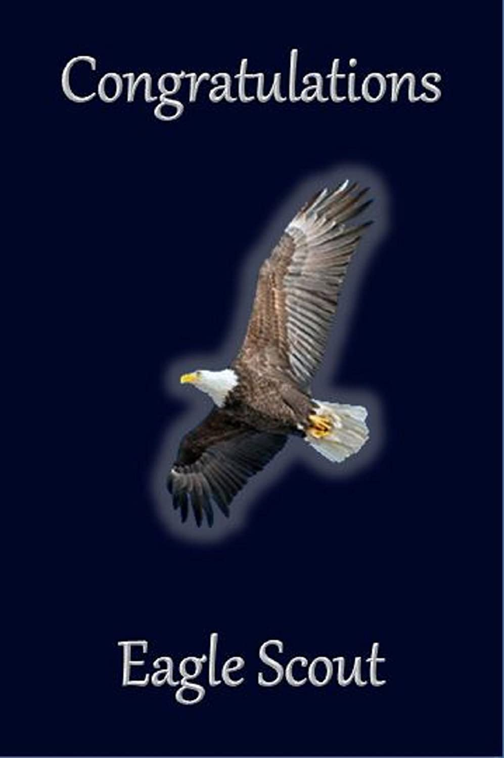 picture about Eagle Scout Congratulations Card Printable known as Eagle Scout Congratulations Card: Sparkling Eagle