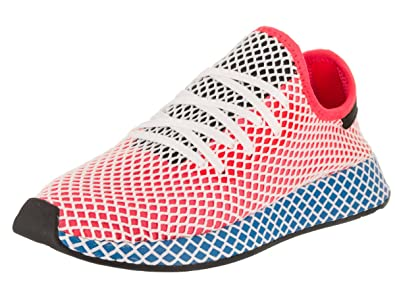 sports shoes e40ff f215c adidas Mens Originals Deerupt Runner Solar Red Blue Bird Mesh Size 7.5