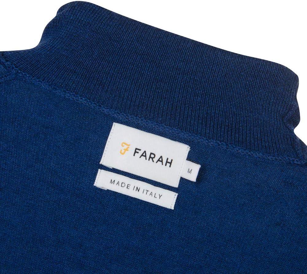 FARAH/® Rollkragenpullover aus Gosforth Blue Peony Marl Merino