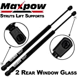 Partsam Qty (2) Rear Glass Gas Charged Lift Support Struts For 1987-1995 Jeep Wrangler
