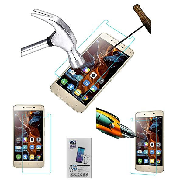Acm Tempered Glass Screenguard Compatible with Lenovo Vibe K5 Plus 3  gb Ram Screen Guard Scratch Protector