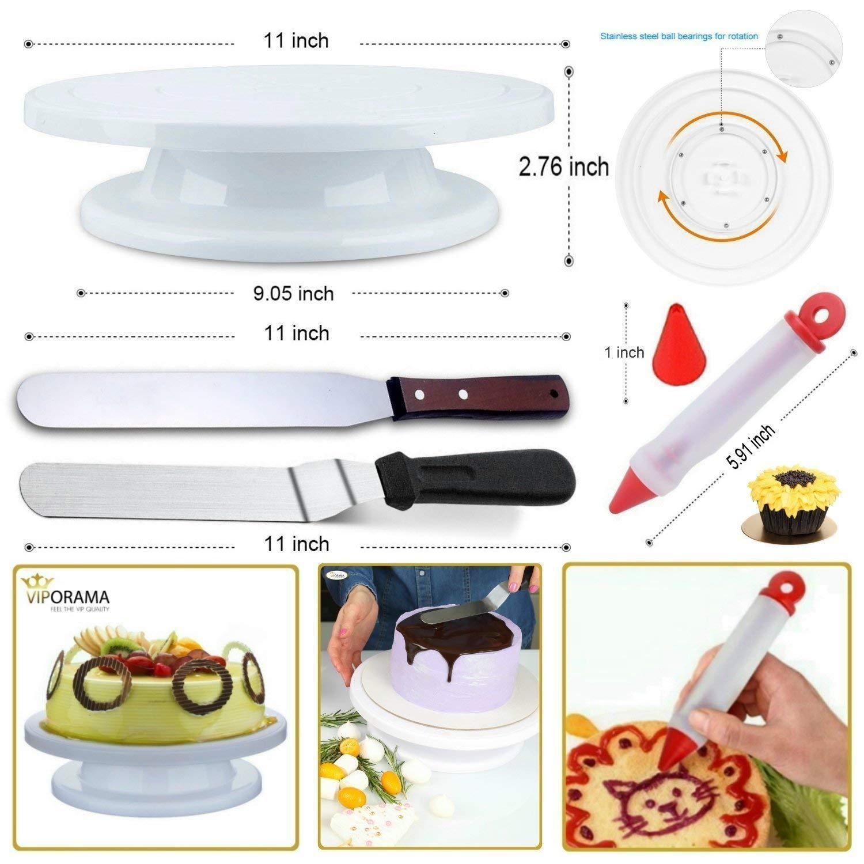JHKJ Cake Decorating Supplies kit Including Cake Turntable Set Decorating Set Cake Decorating Tools Set,124pieces by JHKJ (Image #5)
