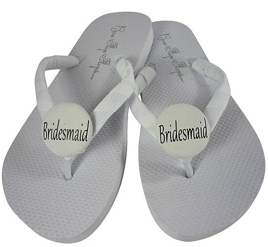 af71368344422 Amazon.com  You pick the colors - Bridesmaid Flip Flops  Handmade