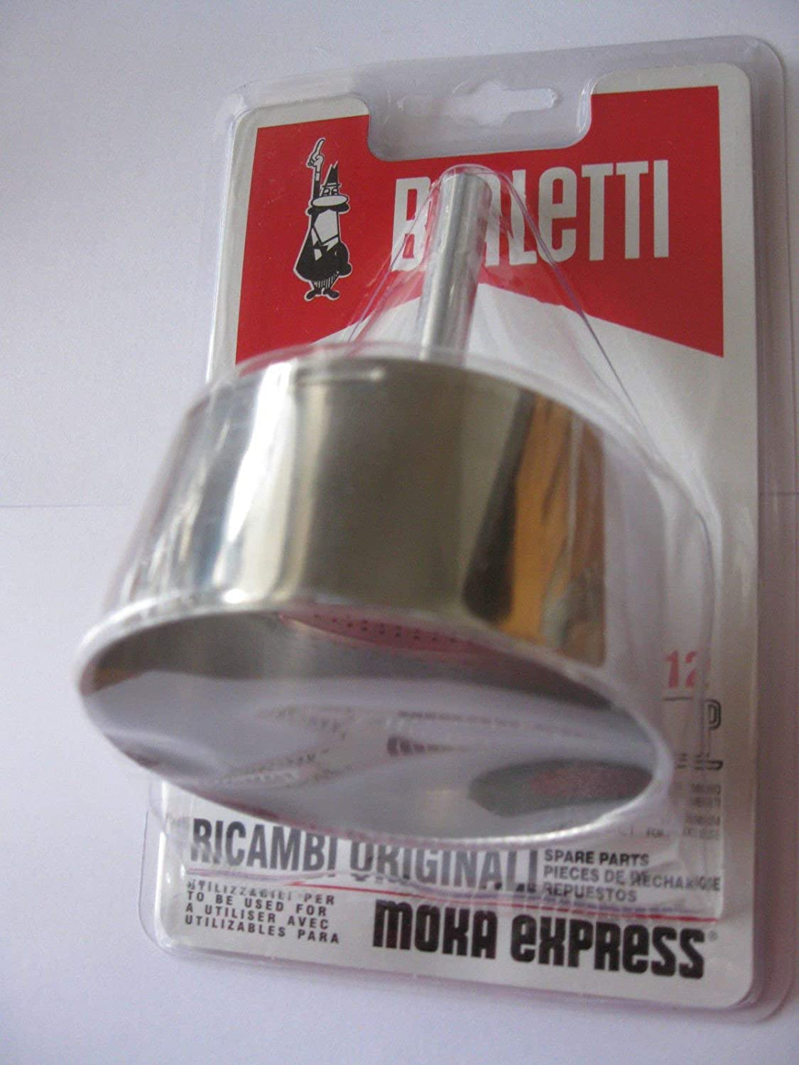 12 Cup Bialetti Spare Filter Funnel for Moka Express Coffee Maker