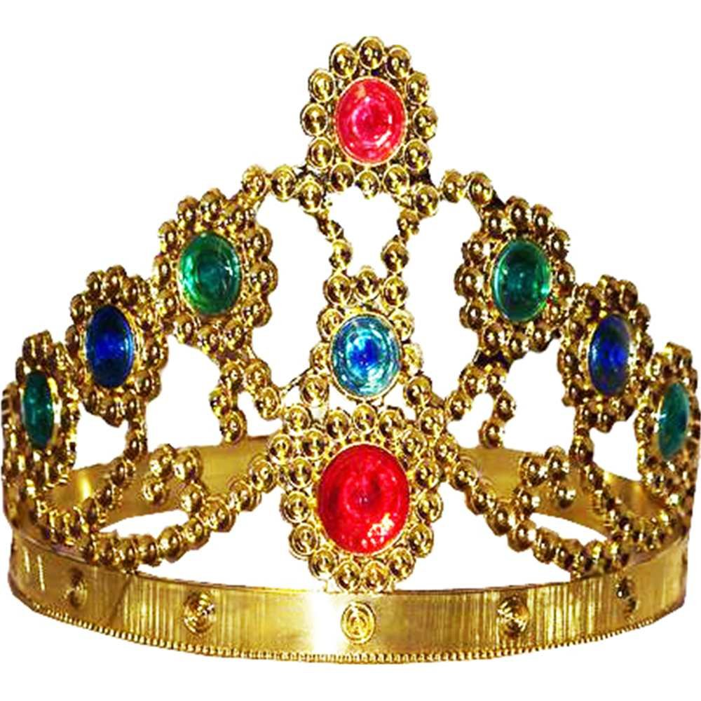 amazon com gold adjustable king and queen crown toys games