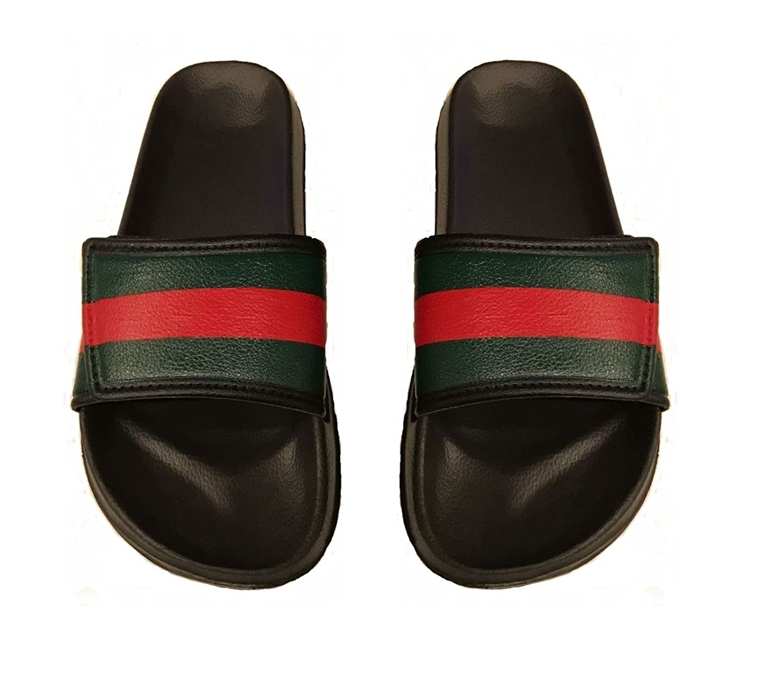 Mens Striped Style Slide Sandals Sizes 9,10,11
