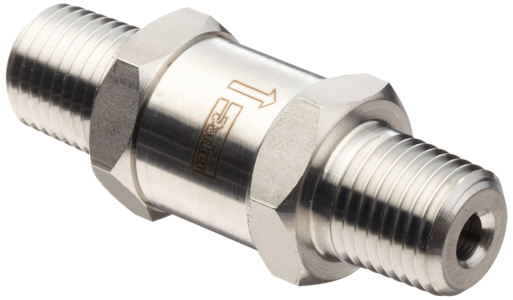 Parker F Series Stainless Steel 316 Instrumentation Filter, Inline, 50 Micron, 3/4'' NPT Male