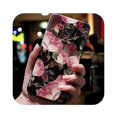 Amazon.com: 3D Flower Emboss Case for Samsung Galaxy J7 J3 ...