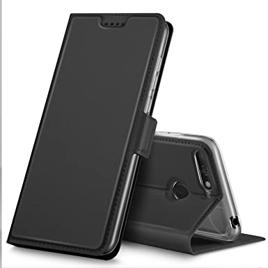 the latest c66f4 52e1d Geemai Honor 7A Case, Honor 7A Cover [Card Holder] [Magnetic Closure]  Premium Leather Flip Wallet Case Cover for Honor 7A Smartphone, Black
