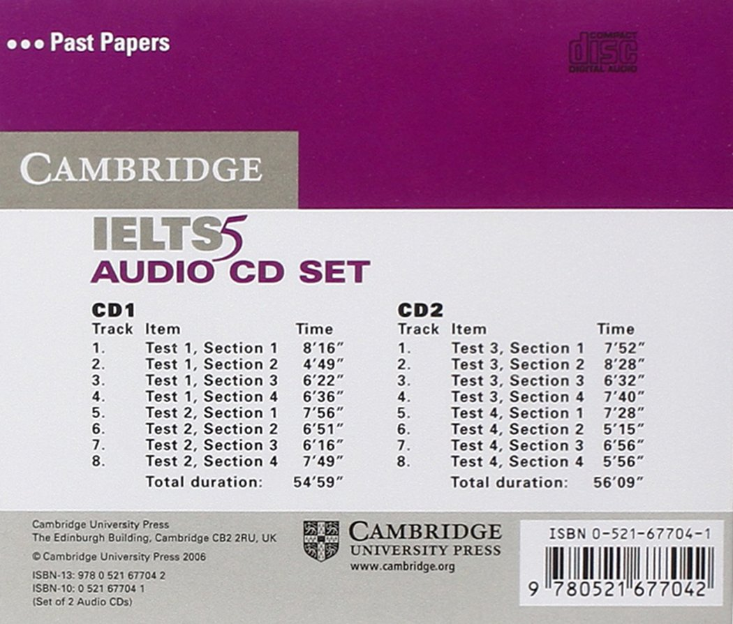 Cambridge IELTS 5 Audio CDs (IELTS Practice Tests) by Brand: Cambridge University Press
