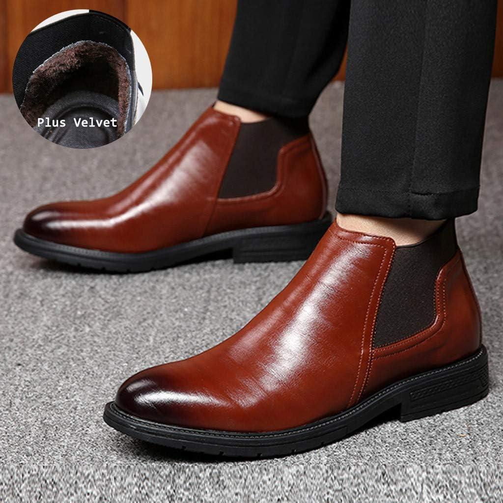 HLIYY Mode Nouveau Homme Faux Suede Chaussures en Cuir Oxfords Printemps Automne Oxford Chaussures Chaussons Style Mocassins Homme Faux su/ède