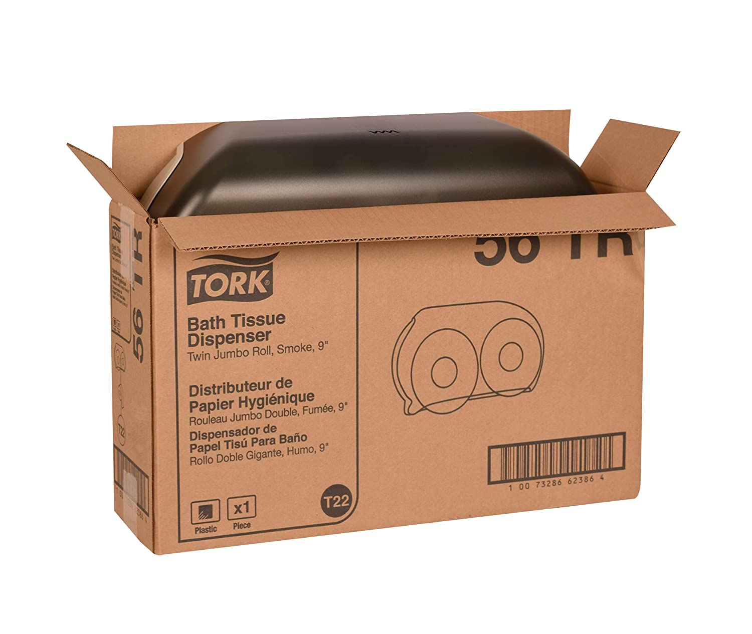 Amazon.com: Tork 56TR Twin Jumbo Bath Tissue Roll Dispenser, 9
