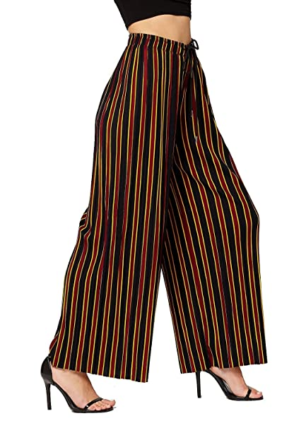 72a5c0347266 Conceited Women's High Waisted Wide Leg Printed Pleated Palazzo Pants -  Douglas - One Size -