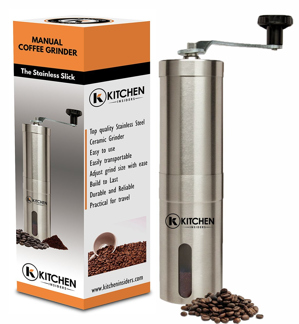 Kitchen Insiders Stainless Steel Manual Coffee Grinder