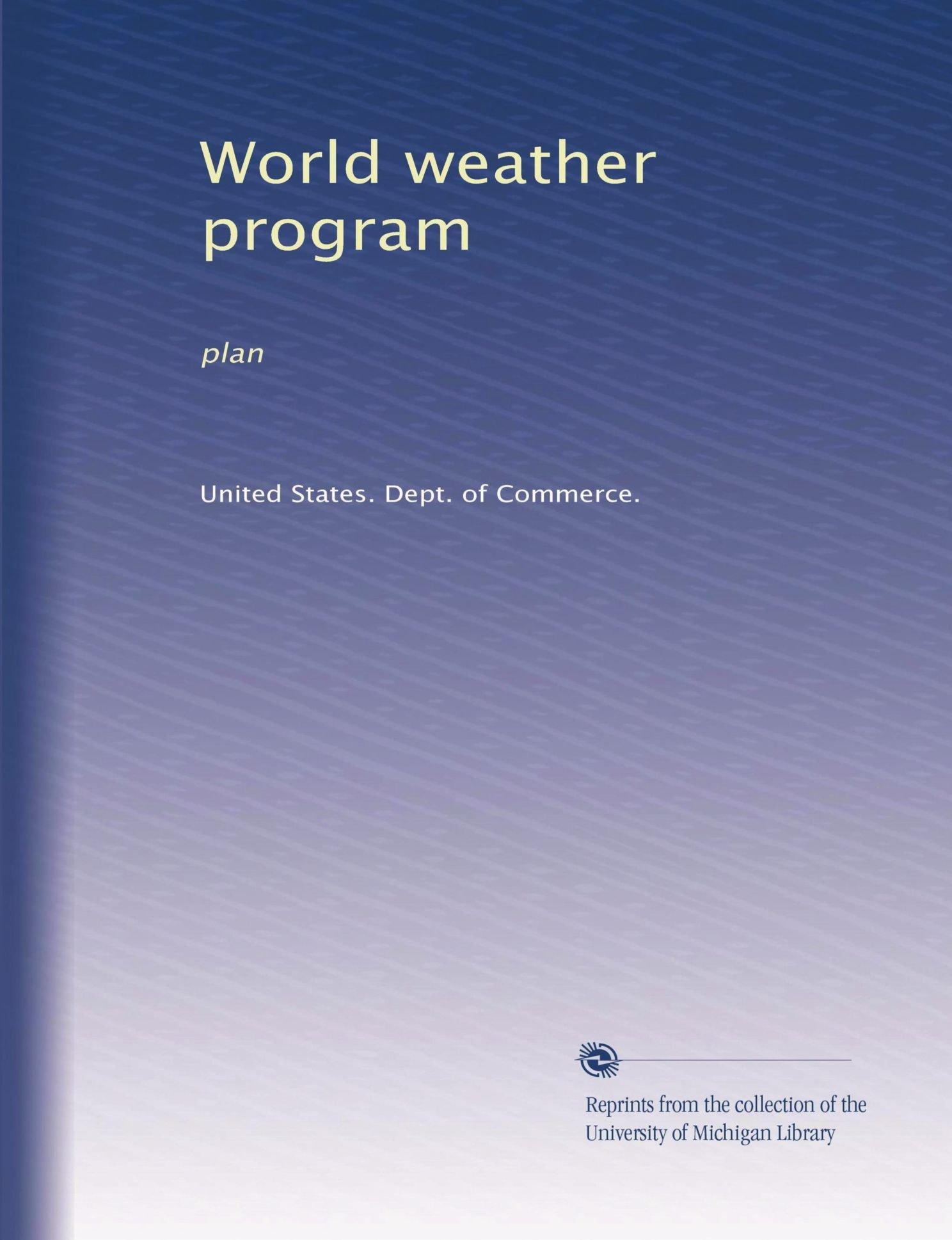 Download World weather program: plan PDF ePub book