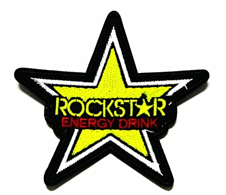 amazon com rockstar logo iron sew patch