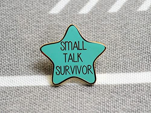 Small Talk Survivor Pin