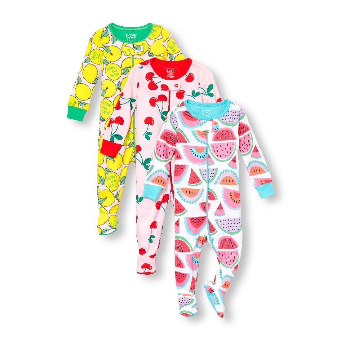 The Children's Place Baby Girls 3 Piece Stretchie Bundle, Multi Clr, 18-24MONTH