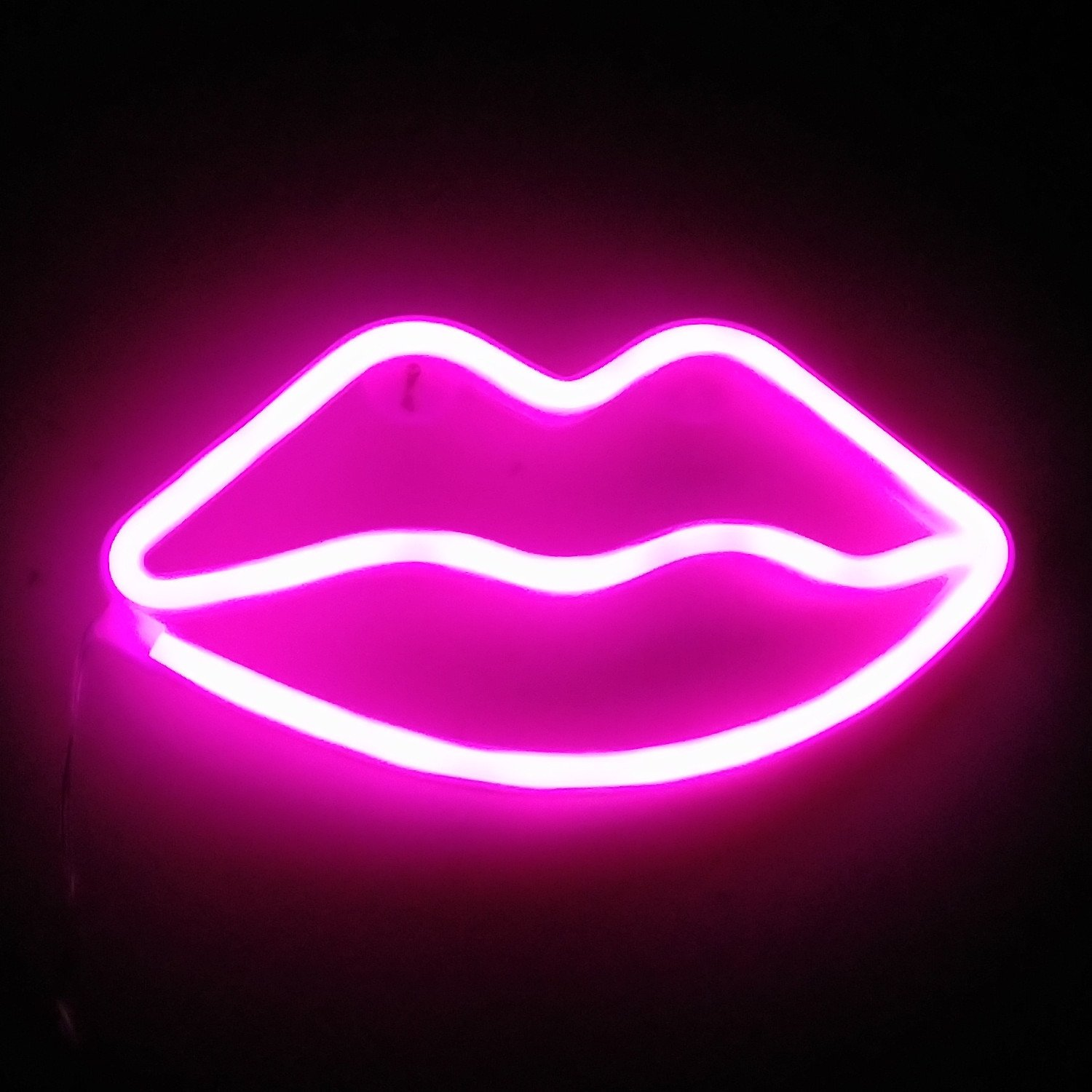Lip Neon Signs LED Decor Light Wall Decor for Christmas Decoration Birthday Party Home LED Decorative Lights Wedding Event Banquet Party Decor (Lip Pink)