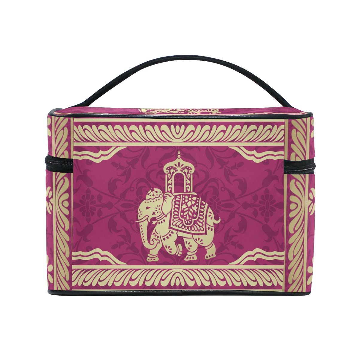 Hippie Indian Elephant Mandala Cosmetic Bags Travel Makeup Toiletry Organizer Case