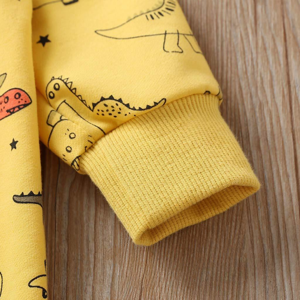 3-6 Months, Yellow Gallity Infant Baby Boys Girls Jumpsuit Unisex Toddler Dinosaur Print Romper Bodysuit Onesie Playsuit Baby Clothes