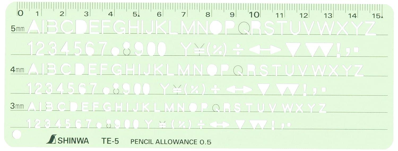 Amazon Shinwa Measurement Template Te 5 Alphanumeric Symbols