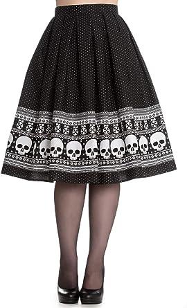 Hell Bunny Clara Rockabilly - Falda de cráneo de los años 50 ...