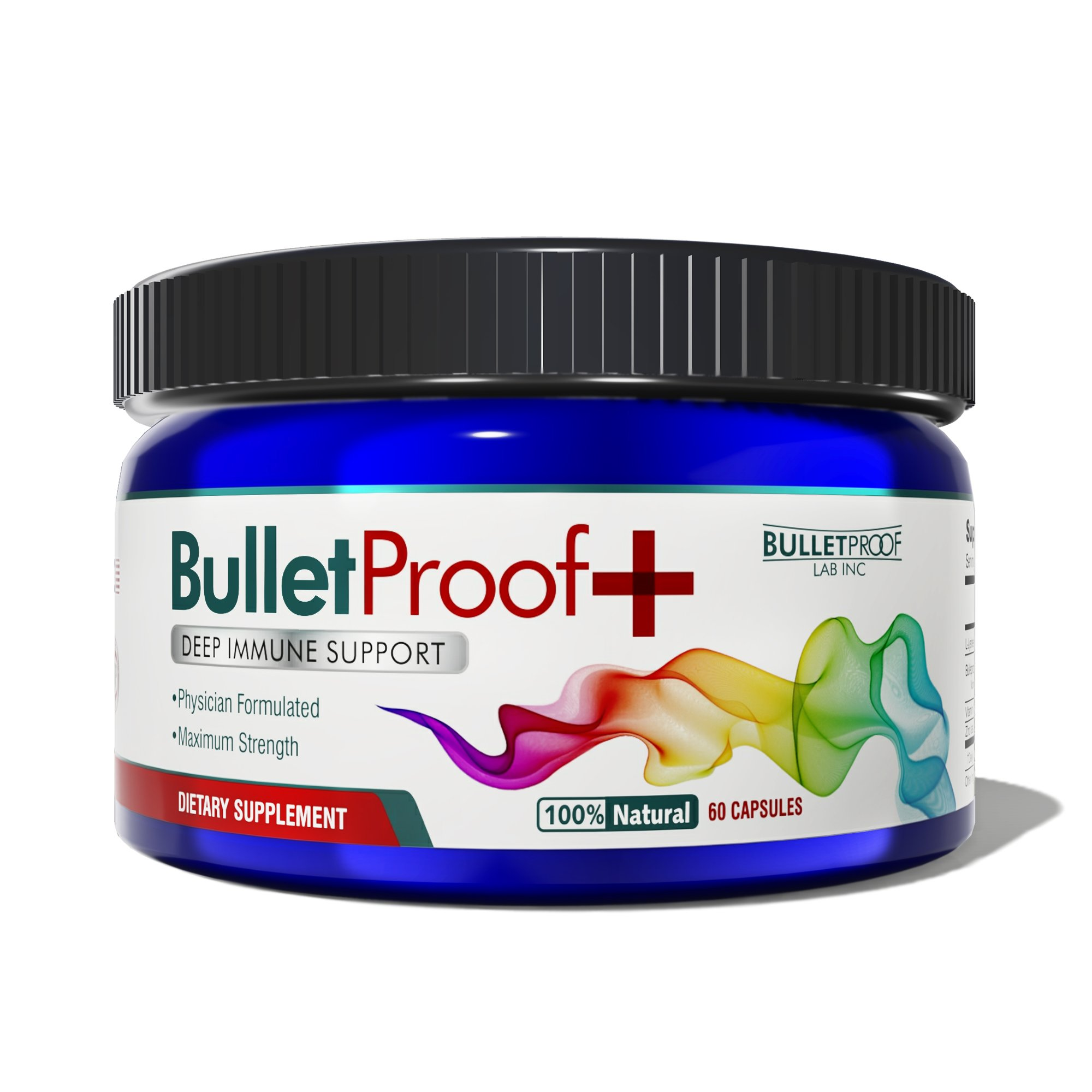 BULLETPROOF+ herpes and shingles treatment - formulated to shorten healing time and suppress future outbreaks   Herpes and Shingles Supplement by BulletProofPlus Lab Inc