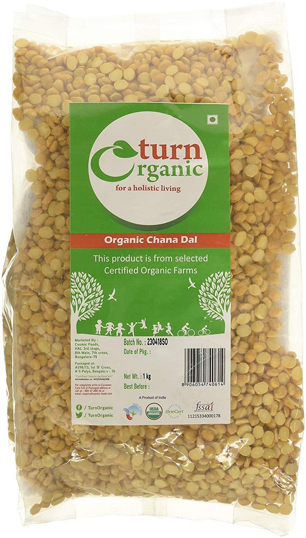 Turn Organic Chana Dal, 1kg