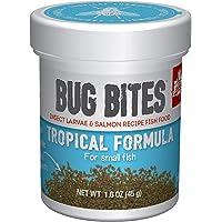 Fluval Bug Bites Visvoer, met insectenlarven, voor tropische vissen, langzaam zinkend microgranulaat, 0,7-1 mm, 45 g