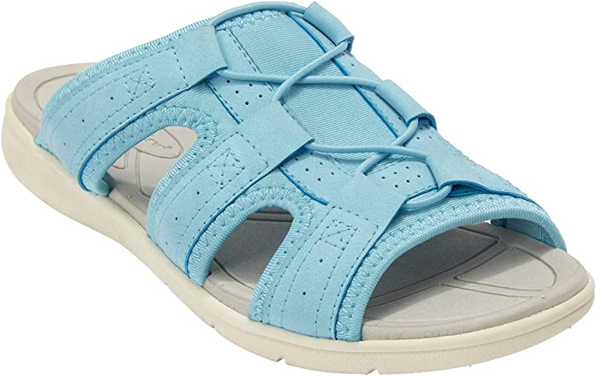 Comfortview Womens Plus Size Maxi Footbed Sandal